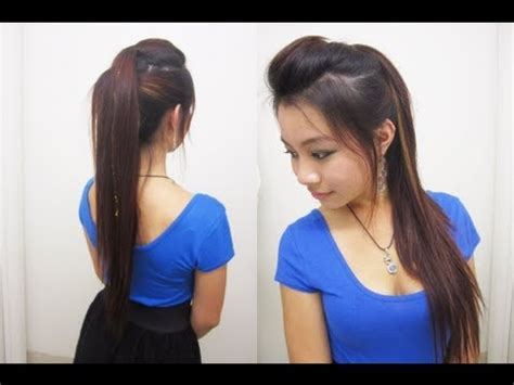 ponytail for rebonded hair long rebonding hairstyle pertaining to home female hairstyle