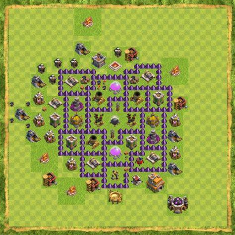 layout coc th 10 terbaik susunan formasi base town hall 7 terbaik di clash of clans