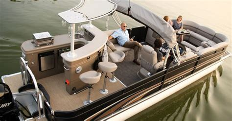 pontoon boat with bathroom premier pontoon pontoons and boats on pinterest
