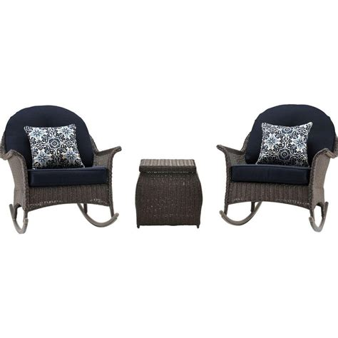 Java Set Navy hanover san marino 3 all weather wicker patio