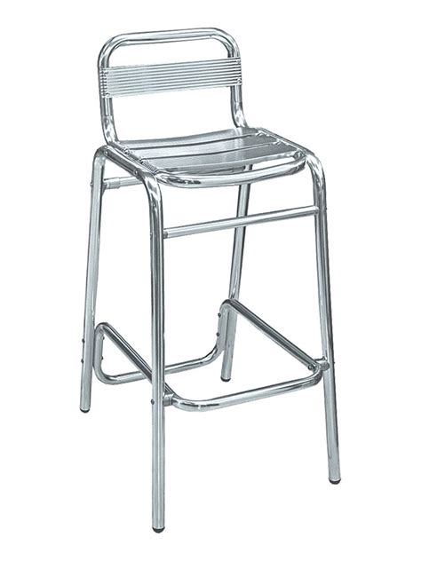 bar stool aluminum aluminum armless outdoor bar stool