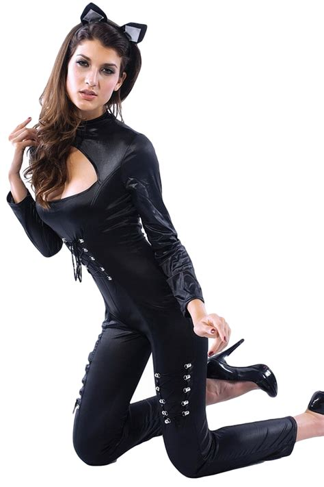 Jumpsuit Cat 17110071 Limited pvc catsuit fancy dress costume fancy me limited