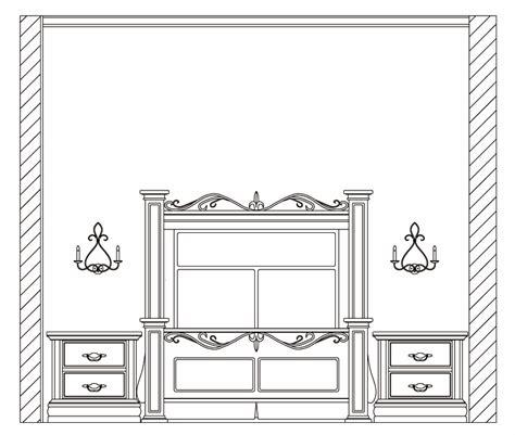 elevation of bedroom bedroom elevation cad blocks joy studio design gallery