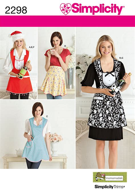apron pattern simplicity simplicity 2298 misses aprons sewing pattern