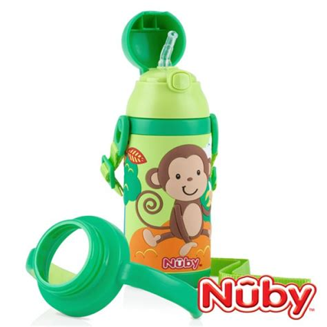 Sale Nuby Click It Insulated Stainless Steel Straw Bottle 280ml nuby toddler sipeez insulated stainless steel flip it straw bottle 385ml green babyonline
