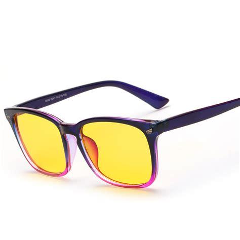 blue light protection glasses square yellow lenses glasses anti rflective radiation blue