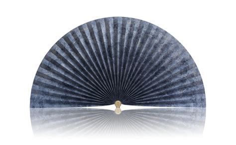 decorative pleated window fans blue marble with accents pleated decorative fan