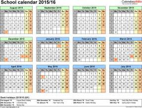 school year calendar template school calendars 2015 2016 as free printable word templates