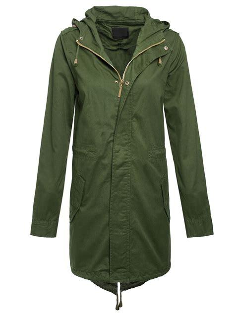 Jaket Parka Cotton Twill new khaki cotton twill fishtail parka coat