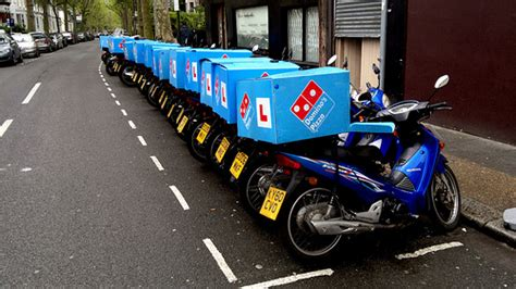domino pizza fulham learner l plates on domino pizza delivery motorcycles off
