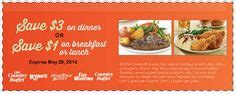 3 Bucks Off Dinner With Your Beverage At Hometown Buffet Home Country Buffet Coupons