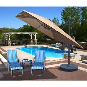 santorini ii fiesta 10 ft square cantilever umbrella in