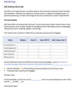 bank business plan template business plan templates