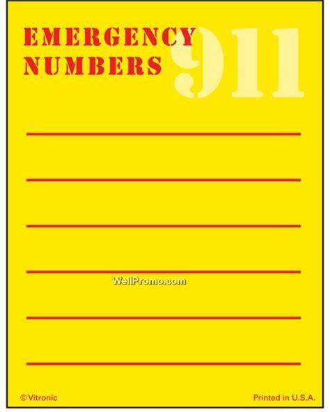 printable emergency numbers printable emergency number list press n stick imprinted