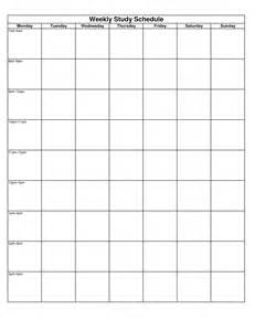study calendar template 6 best images of printable weekly study schedule weekly