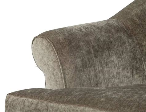 rolled back sofa custom rolled back sofa in grey chenille for sale at 1stdibs