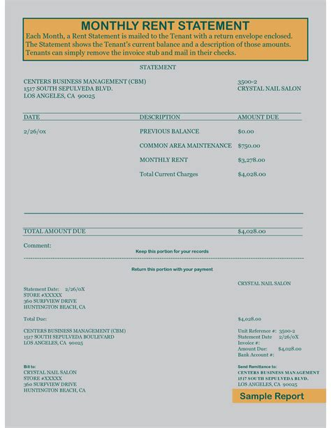 rent statement template free rental receipt template cake ideas and designs