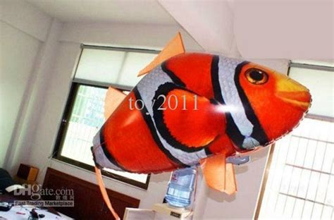 Flying Fish Air Swimmer Clownfish Nemo 2017 air swimmers shark clownfish nemo rc flying remote floating fish from toy2011
