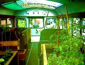 How To Start An Urban Garden - former bus converted into a thriving mobile urban