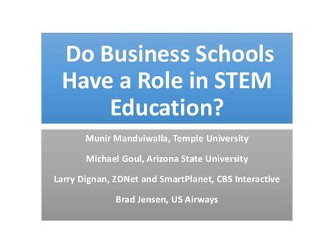 Of Alabama Stem Mba Program by Do Business Schools A In Stem Education