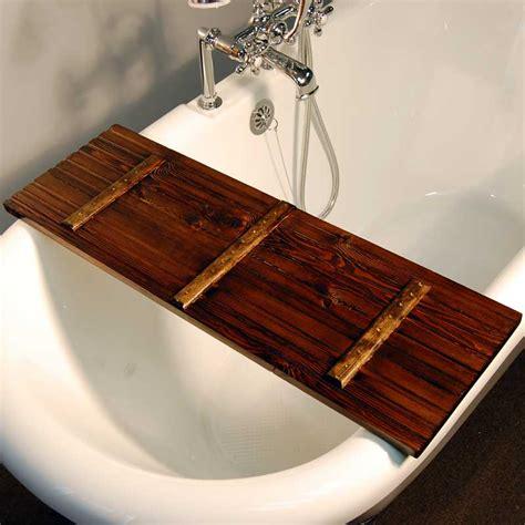 wood bathtub caddy handmade tub caddy dark walnut the loo store