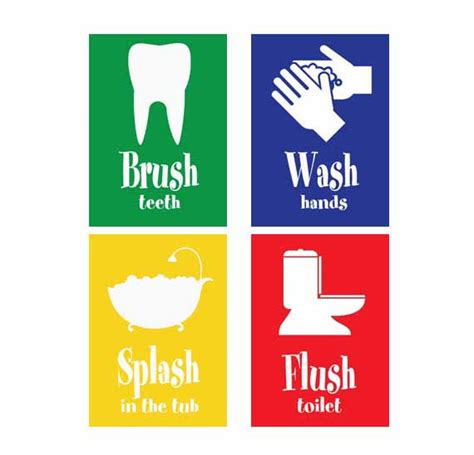 kids bathroom signs items similar to printable kids bathroom sign kids room