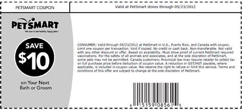 petsmart grooming coupons petsmart 10 grooming printable coupon