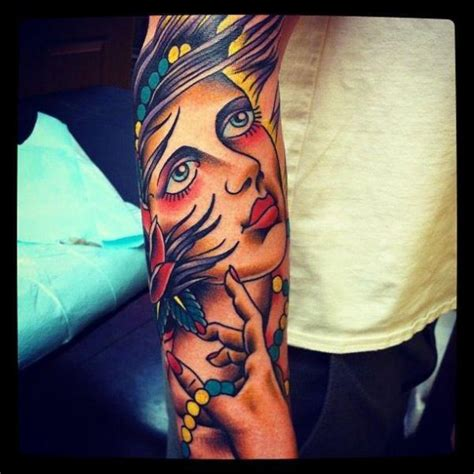 tattoo old school gypsy arm old school gypsy tattoo by urban art tattoo