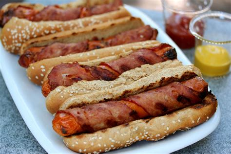 bacon wrapped dogs bacon wrapped dogs with less guilt