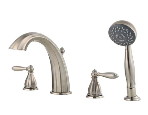 Price Pfister Tub Faucet by Price Pfister Rt6 4rpk Portola Tub Faucet Brushed