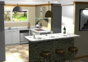Bancos Para Cocina Modernos #6: Planos-modernos-de-cocinas-con-desayunador-300x212.jpg