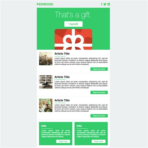 free responsive email template penrose free responsive email template