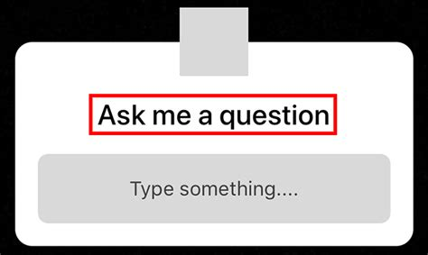 Instagram Questions Sticker