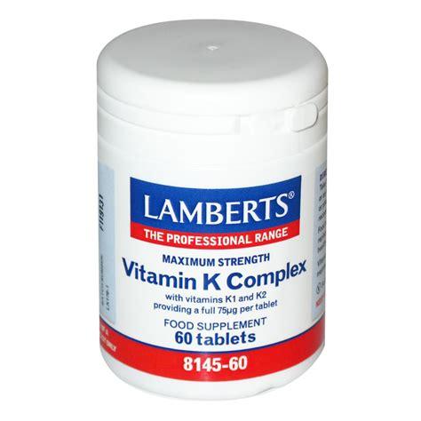vitamin k supplement lamberts vitamin k complex 60 tablets calcium minerals