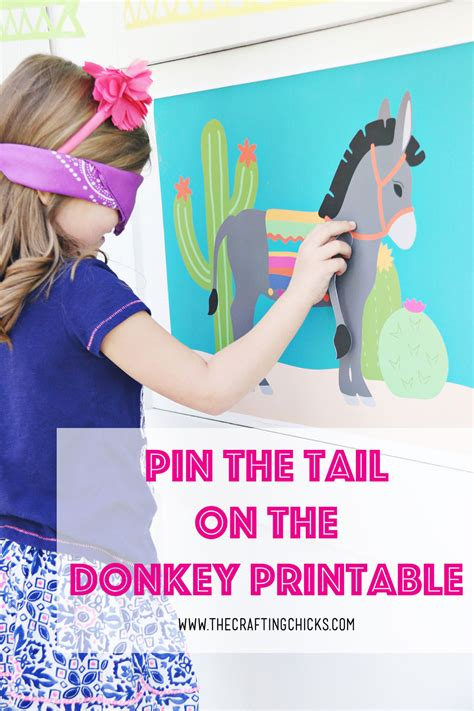 free printable pin the tail on the donkey template free