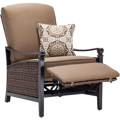 outdoor club chair hton bay brown all weather wicker patio