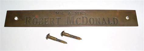 front door name plate vintage brass front door name plate for mr mrs robert