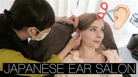 how to cut hair in over the ear short bob my first ear hair cut japanese ear salon youtube