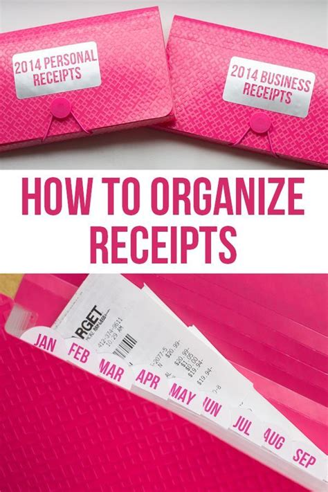 best way to organize business cards 17 best ideas about organize receipts on file