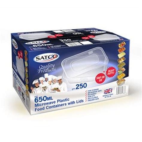 Container Microwave 650ml satco 650ml microwave plastic containers with lids
