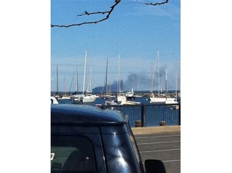 falmouth fire boat boat fire at little river boat yard in mashpee falmouth