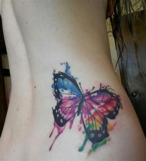 watercolor tattoo new zealand my watercolor butterfly done by matt