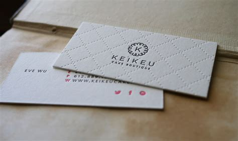 letterpress business card keikeu cardrabbit