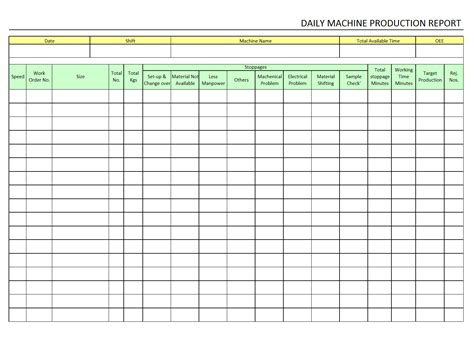 Daily Production Report Format In Excel C Ile Web E H 252 Kmedin Production Rate Sheet Template