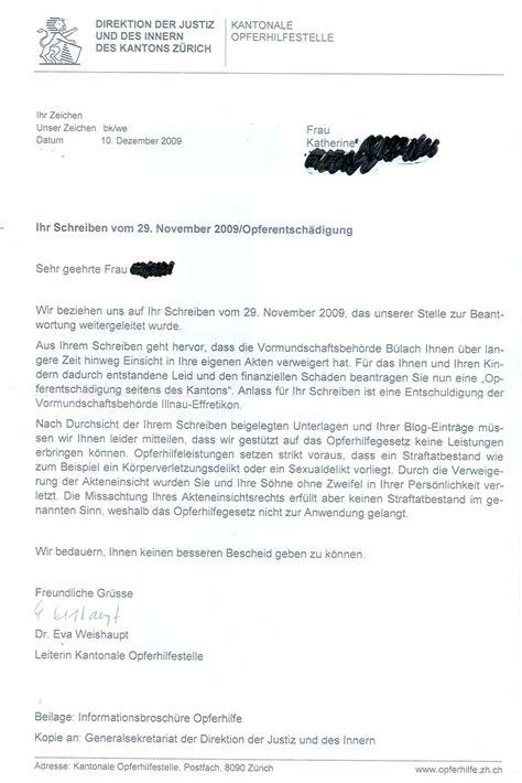 Schweiz Brief Beilagen Namens 228 Nderung Keine Opferentsch 228 Digung