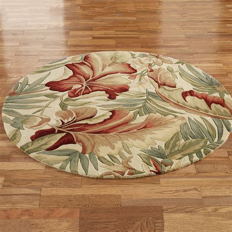 Round Tropical Rugs Rugs Ideas Tropical Rugs