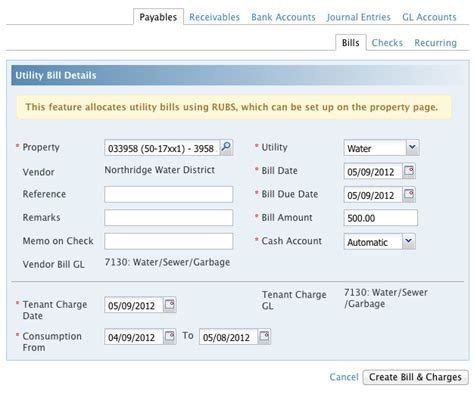 create a utility bill images