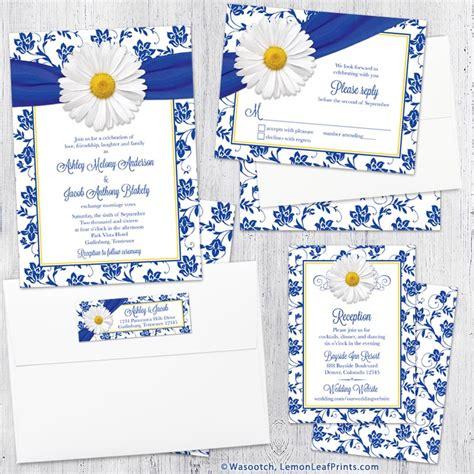 royal blue wedding invitation sets wedding themes wasootch wasootch