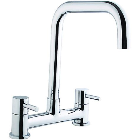 Wickes Seattle Bridge Kitchen Sink Mixer Tap Chrome Mixer Taps Kitchen Sinks