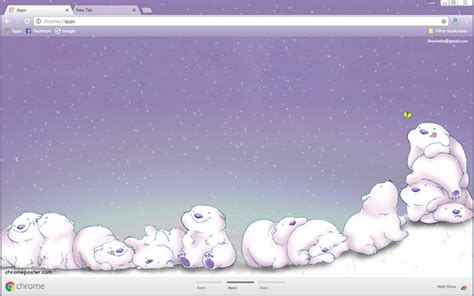 themes google chrome kawaii cute polar bears cartoon chrome theme chromeposta